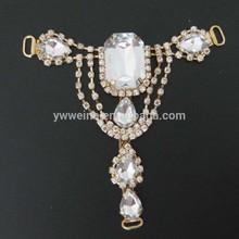 T gems ladies high heel sandal ornament chain