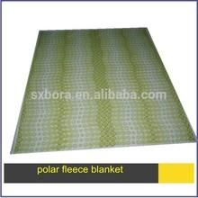 2015 New fashion soft printed polyester polar fleece blanket