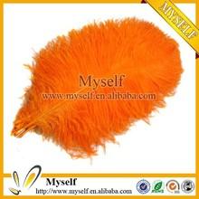 Wholesale Orange Ostrich Feather Decorations