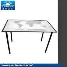 l shaped modern high end glass executive desk