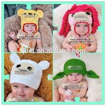 Custom Handmade Super Cute Crochet Animal Hat Pattern Chunky Crochet Hat for Child,little lamb,yoda,yellow bear inspired