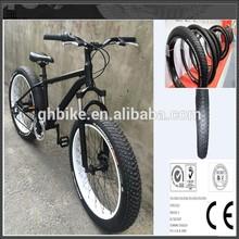 "26"" matte black 6S men beach cruiser 26*4.0 fat tire bike"