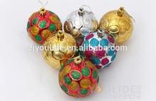 Gift Decoration Glass Christmas Ball ,Hand Painted Christmas Ball