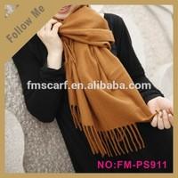 Fashion Lady jacquard shawl various solid color kashimir pashmina shawl