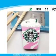 3d silicone STARBUCK Design phone case for iphone 5/6/6 plus