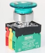 illuminated mushroom head switch, momentary 5v led push button