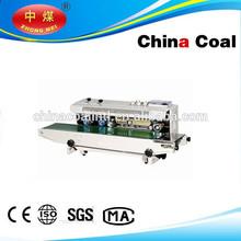 Continuous PP/PE bag sealing machine,bag sealer FRD-1000 Solid-ink coding band sealer