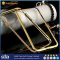 Ggit proveedor de oro de diamante de metal de parachoques caso para el iphone plus 6 5.5 pulgadas( np- 1767)