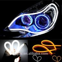 flexible led drl/daytime running light/led angel eye headlight with turning sign
