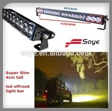 China 4x4 accessories super slim led light bar 100W offroad led light bar