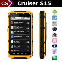 High pixel Cruiser S15 IPS touch screen GPS/GSM/3G 3000 mah waterproof shockproof telephone