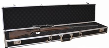 Black Carrying Locking Aluminum Gun Case