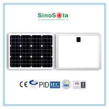 12V 25W Mono Solar Panel, High efficiency with A-grade high quality crystalline silicon cells