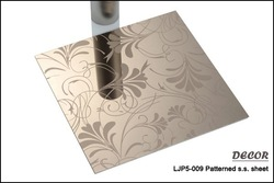 New arrival wholesale decoration color etched stainless steel plate LJP5-009