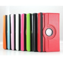 360 degree Design multi Function pu leather stand cover Auto sleep wake function Stand Protective Case for i pad 2 3 4