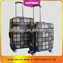 man's check design travelmate luggage