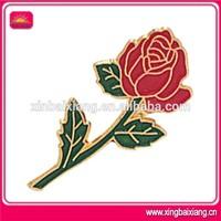 Hot sell rose / flower / custom flower lapel pin