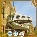 el museo de la vida del parque tamaño dinosaurio decorativo del cráneo