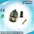 Ohm 50 rp-tnc macho crimp conector coaxial para rg58