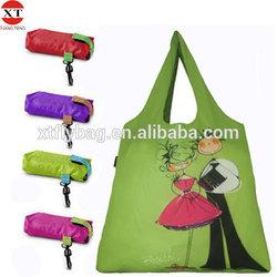 Reusable polyester foldable shopping bag