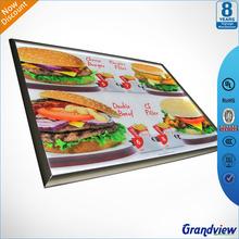 popular advertising aluminum frame lighted menu board