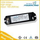 12W 300mA 160-264Vac High Voltage Power Supply