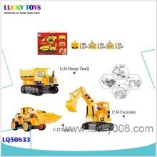 Nuovi prodotti ltd diretta r/c giocattoli camion telecomando gru regalo per i bambini( 1:36 excavator+1:36 con cassone ribaltabile truck+1:32 caricatore)