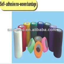 Colorful elastic non woven surgical tape roll, plaster bandage for medical use