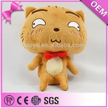 Hot sale expressive anime toys naughty sassy soft plush japanese cat for kids