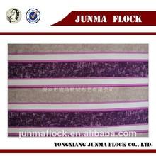 flocked chiffon fabric/ flock print polyester chiffon fabric