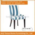 Raya azul y blanco de tela de lino de madera silla de comedor muebles tb-7495