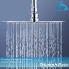 "JFQ008CP square 12"" ultra thin shower head water heater"