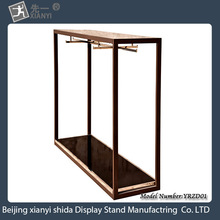 China manufacturers for the down clothes store to provide quality design elegant metal frame / Nakajima display rack