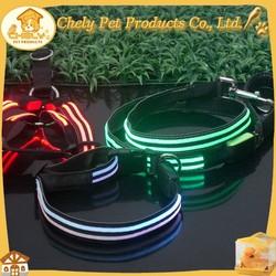 Cute Design Nylon Dog Leash Material Customized Size LED Dog Leash