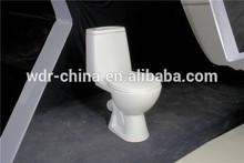 Bathroom Porcelain washdown x-trap two piece toilet bowl for Russia market