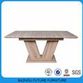 Design moderno extensível MDF de madeira tabela de extensão