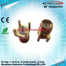 Manufacture sma female solder mount pcb pin