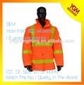 de alta visibilidad chaqueta de color naranja con cinta de pvc