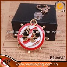 Wholesale Fashion Gold Anchor Jewelry Cheap Vintage Key Chain Flashing Bag Pendant