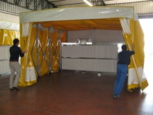Portable spray paint booth/mobile spray booth/folded spray paint cabin