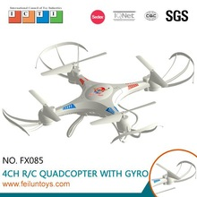Super hobby ! white professtional 2.4G 4CH dji phantom rc quadcopter drone with 6-axis gyro