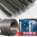 Construcción de acero 7 capas de alambre 12.7mm, 15.2mm pc strand