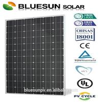 TUV CE UL full certified Bluesun brand 25years warranty monocrystalline 300w panels solar wholesale
