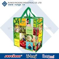eco friendly pp laminated woven reusable bag