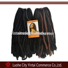 Wholesale synthetic dread lock hair braids&hair weaving for fashion black men&women