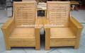 Venda quente china clássico sofá único, Sofá de bambu móveis