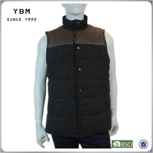 2014-2015 European casual coats men fashion winter cotton sleeveless jackets for men