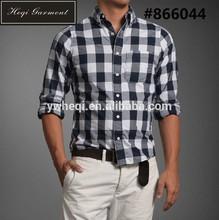 ขายร้อนฤดูใบไม้ผลิฤดูใบไม้ร่วงชายเสื้อลำลองผู้ชายแขนยาวลายสก๊อตเสื้อเชิ้ตผ้าสักหลาดขัดผ้าฝ้าย100%สี32