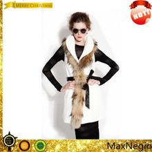2014 Waist and matching white mink fur sleeveless women winter coats