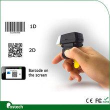 Wearable Computing hand bar code scanner Android handheld barcode scanner 2D mini scanner